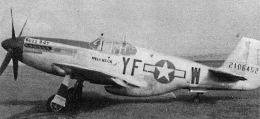P-51B YF-W at Steeple Morden, 355th FG, 1944
