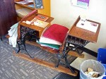 Antique sled desk