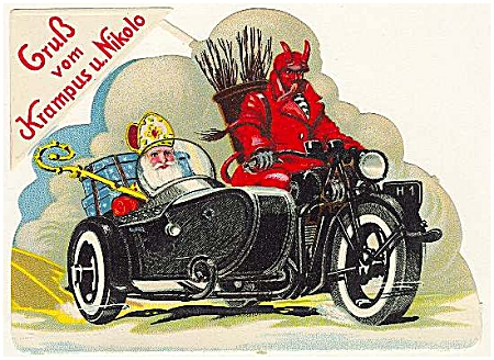 Santa and Krampus hit the road.